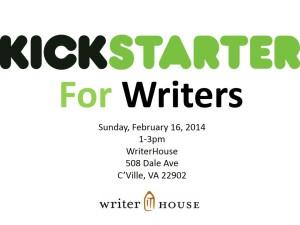 kickstarter for writers