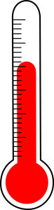 an old-fashioned thermometer