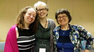 Bethany, Anne, and Carolyn.... 3/4th of BACCA Literary. Sadly, Claire couldn't make it this year.