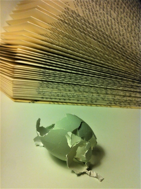 egg and book