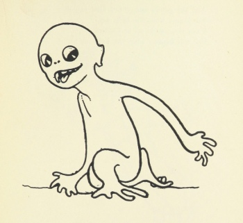 drawing of an alien-looking creature the bully